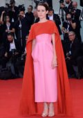 Claire Foy attends 'First Man' premiere and the Opening Ceremony of the 75th Venice International Film Festival in Venice, Italy