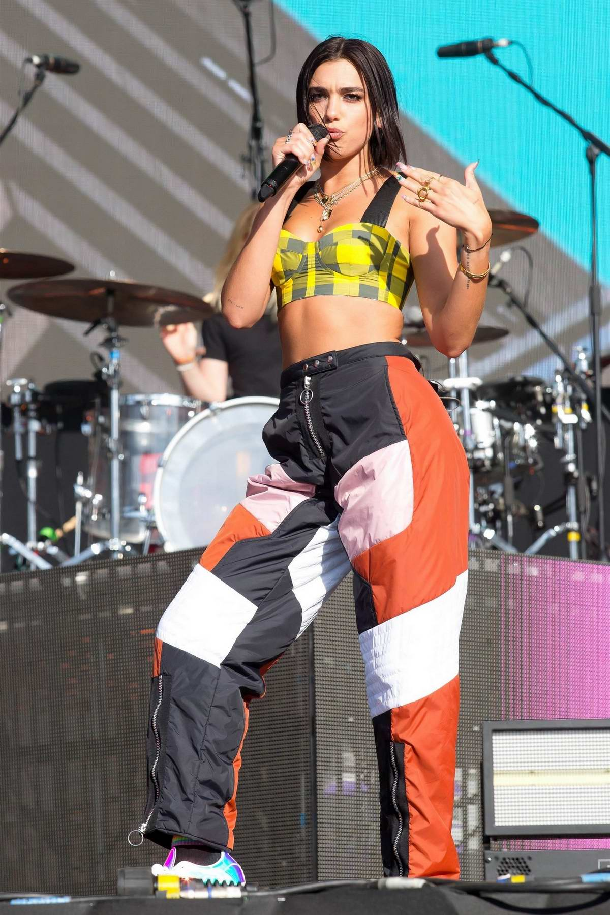 Dua Lipa performs live on day two of Reading Festival 2018 in Reading, UK