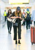 Elizabeth Olsen makes a quite arrival at JFK airport in New York City