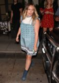Hilary Duff leaving Madeo Italian restaurant in Beverly Hills, Los Angeles