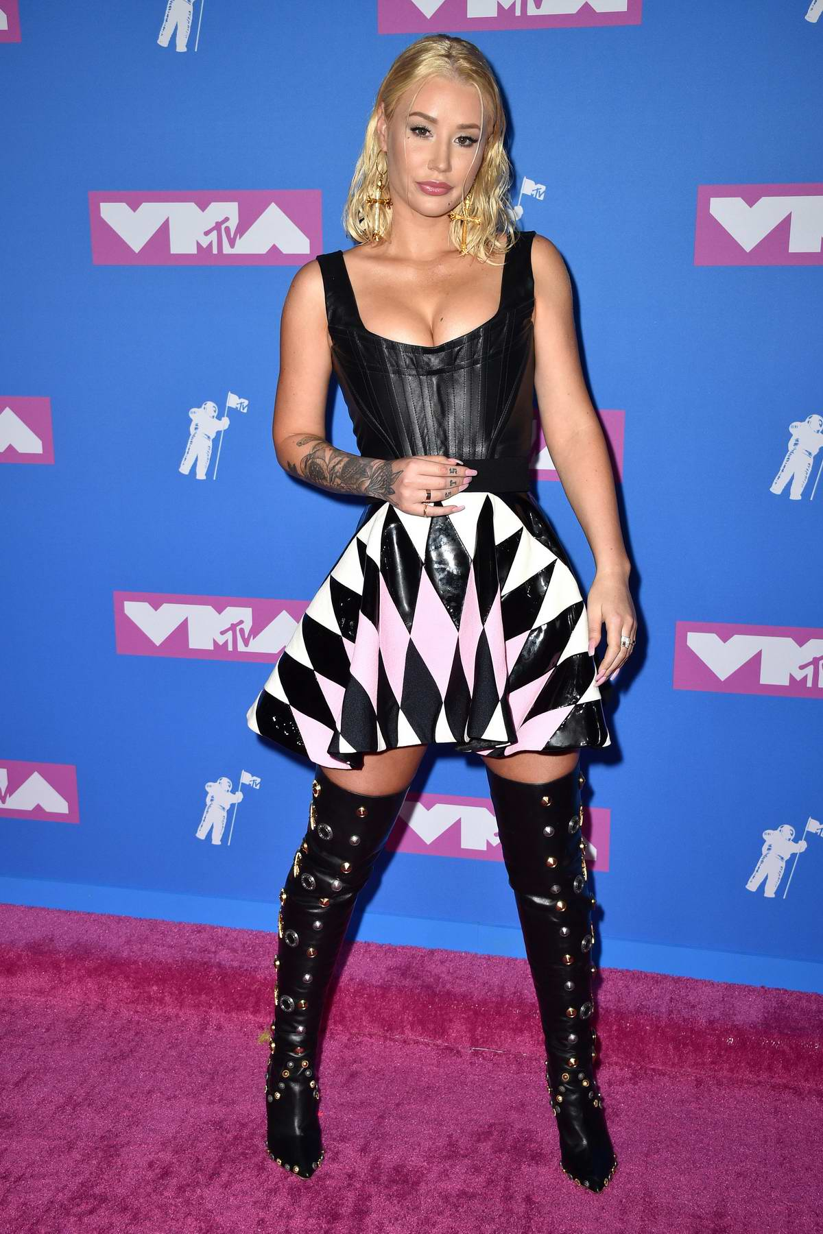 Iggy Azalea attends 2018 MTV Video Music Awards (MTV VMA 2018) at Radio City Music Hall in New York City