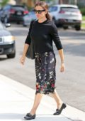 Jennifer Garner seen while attending church in the Pacific Palisades, Los Angeles