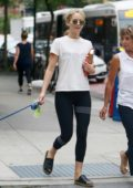 Jennifer Lawrence and her mother spends some time at a beauty salon in New York City