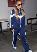 Jennifer Lopez wears blue tracksuit while out to dinner at Craig's in West Hollywood, Los Angeles