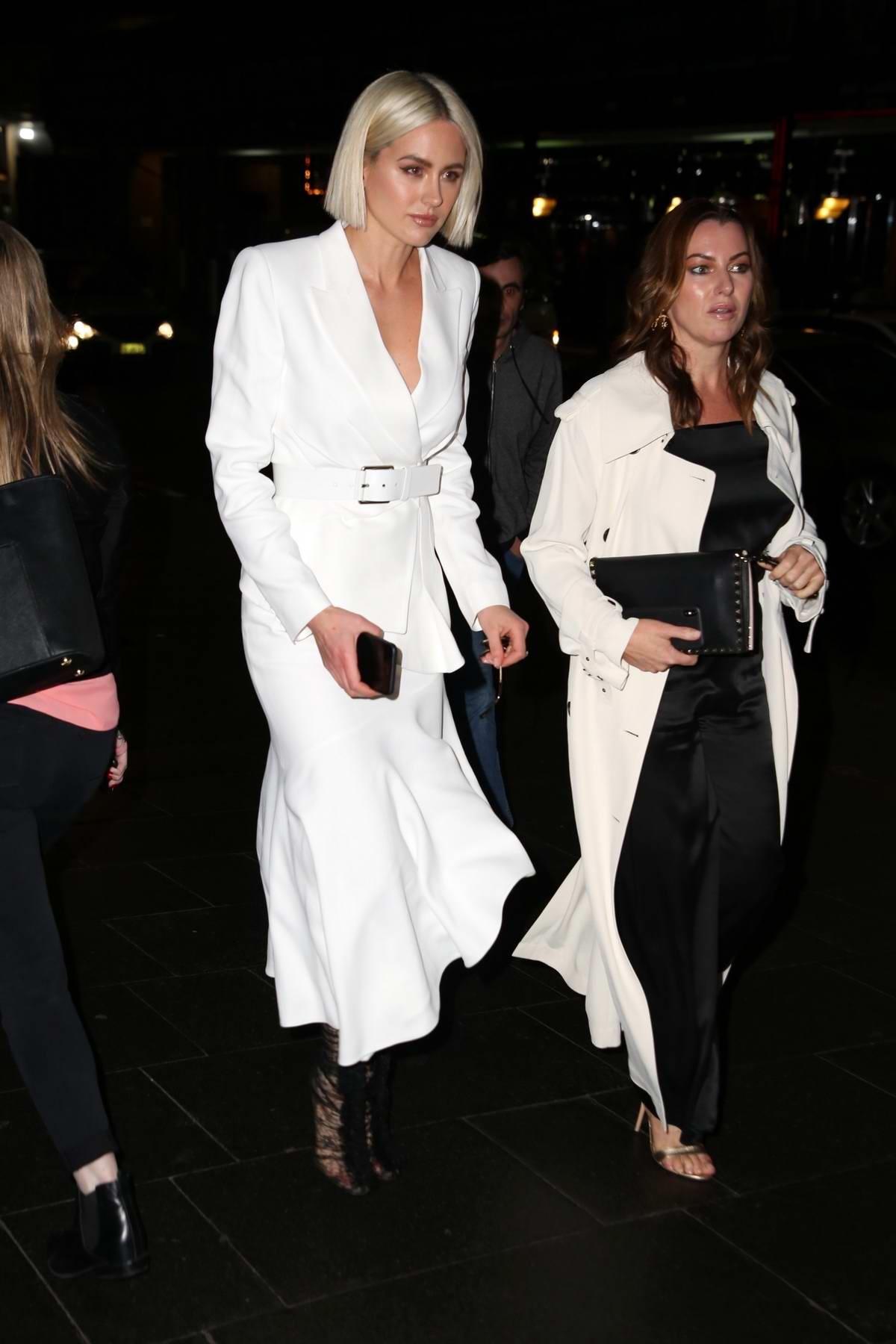Jesinta Campbell arrives for Myer Runway Show in Sydney, Australia