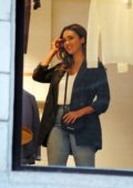 Jessica Alba seen while shopping at Falconeri in Milan, Italy