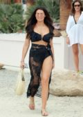 Jessica Wright shows off her beach style while out with friends in Ibiza, Spain