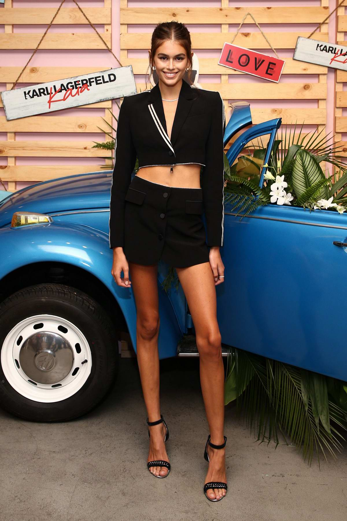 Kaia Gerber attends Karl Lagerfeld X Revolve launch in Los Angeles