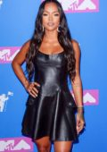 Karrueche Tran attends 2018 MTV Video Music Awards (MTV VMA 2018) at Radio City Music Hall in New York City