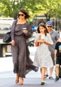 Katie Holmes and daughter Suri Cruise take a walk after breakfast in Soho, New York City