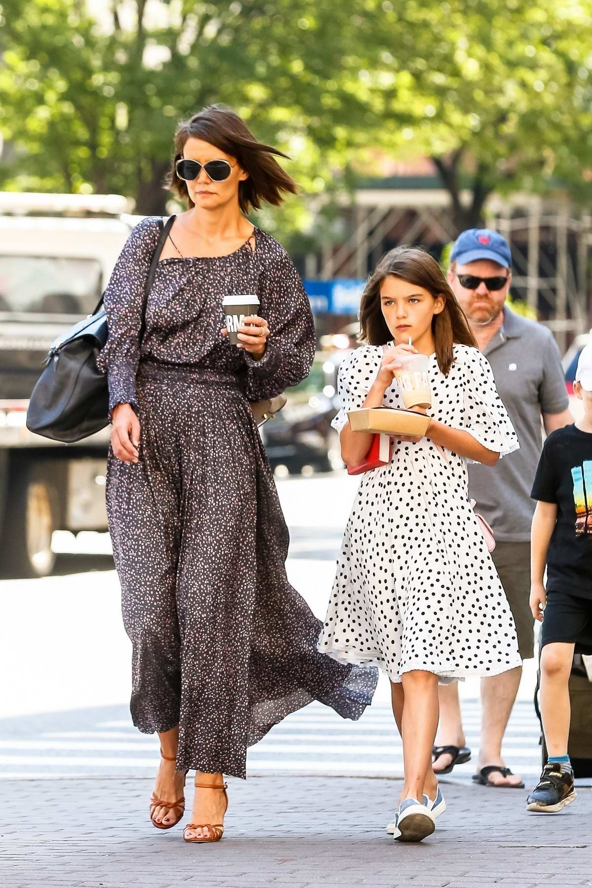 Katie Holmes And Daughter Suri Cruise Take A Walk After