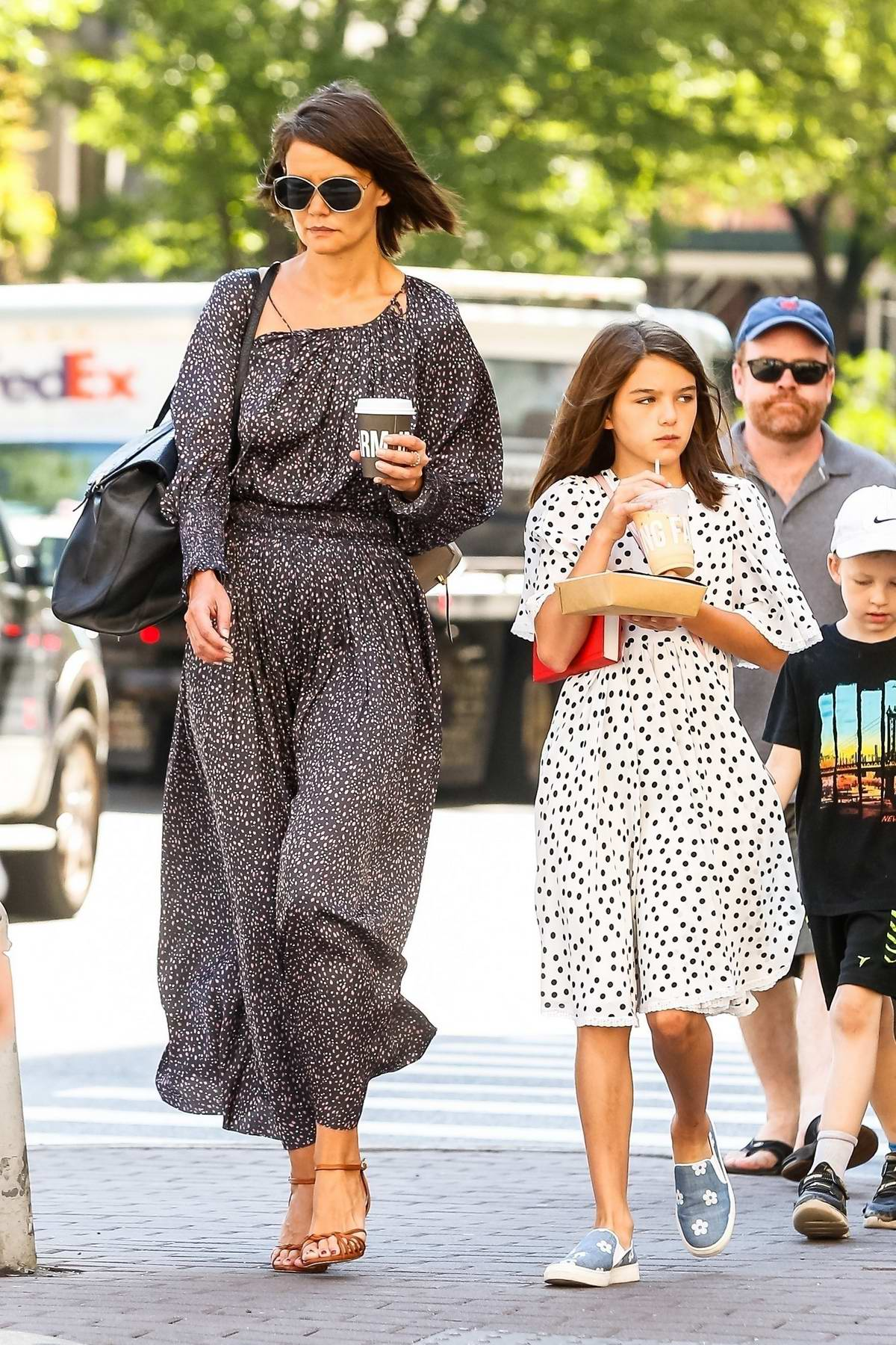 katie holmes and daughter suri cruise take a walk after ...