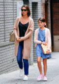 Katie Holmes and Suri Cruise seen while visiting a doctor's office in New York City