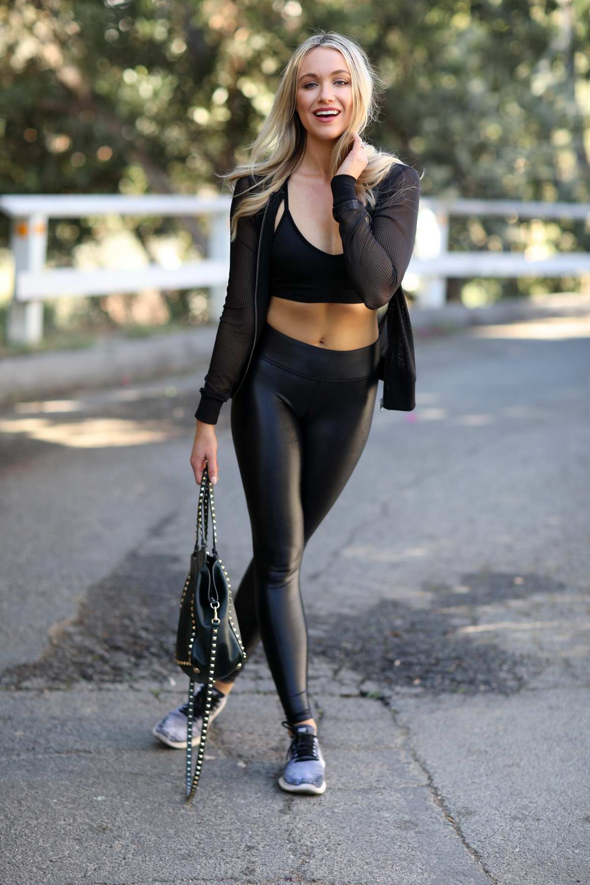 Katrina Bowden in 'My Activewear Brands Favorites List' photoshoot for her blog