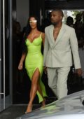 Kim Kardashian and Kanye West arrives at 2-Chainz's wedding in Miami, Florida
