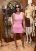Kim Kardashian attends Christie's X What Goes Around Comes Around 25th Anniversary Auction Preview in Beverly Hills, Los Angeles