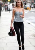 Kimberley Garner arriving at Channel 5 for her guest appearance on 'The Wright Stuff' in Finchampstead, UK