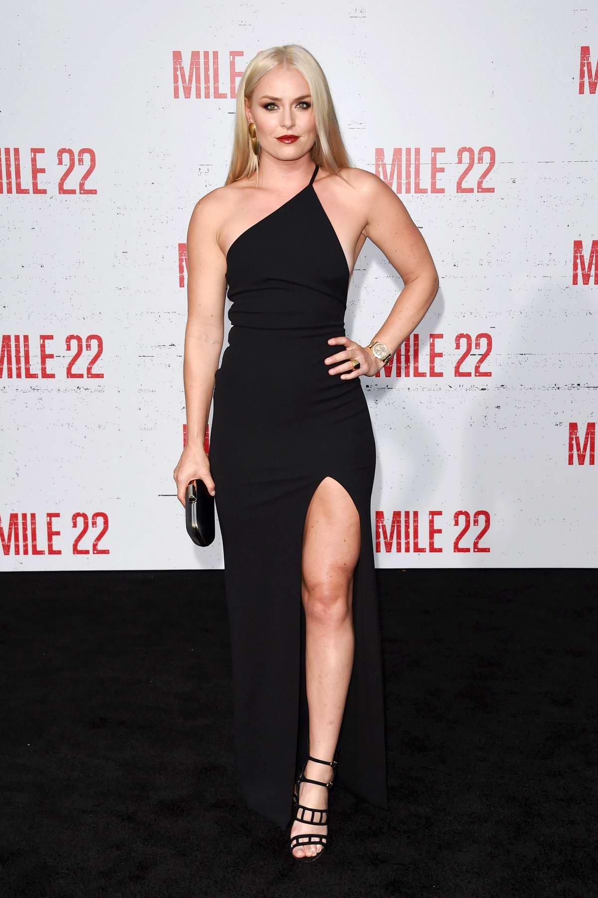 Lindsey Von attends 'Mile 22' film premiere in Los Angeles