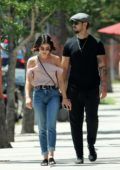 Lucy Hale grabs lunch with Paul Khoury at Mendocino Farms Sandwich Market in Sherman oaks, Los Angeles