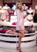 Martha Hunt launches the all new Sexy Illusions Collection at a Victoria's Secret store in Oak Brook, Illinois