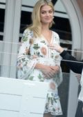 Megan Irwin spotted during a photoshoot on a balcony in Bondi, Australia