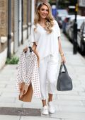 Megan McKenna heads to the launch her clothing line 'Studio Mouthy' in London