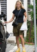 Michelle Hunziker and Tomaso Trussardi spotted with their new Lamborghini Urus in San Cassiano, Italy