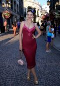 Natasha Blasick poses at Rodeo Drive's 100 year Anniversary Block Party in Beverly Hills, Los Angeles