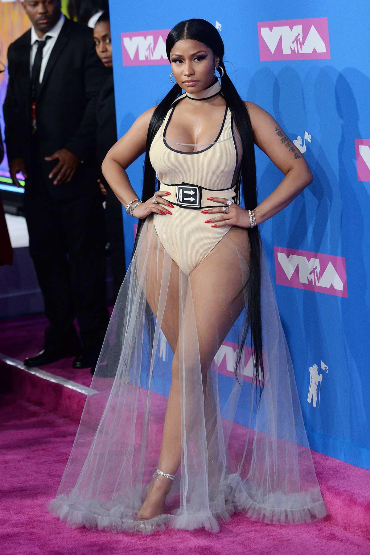 Bella Hadid Vma >> Nicki Minaj attends 2018 MTV Video Music Awards (MTV VMA 2018) at Radio City Music Hall in New ...