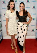 Nina Dobrev and Vanessa Hudgens makes an appearance on 'Despierta America' TV show in Miami, Florida