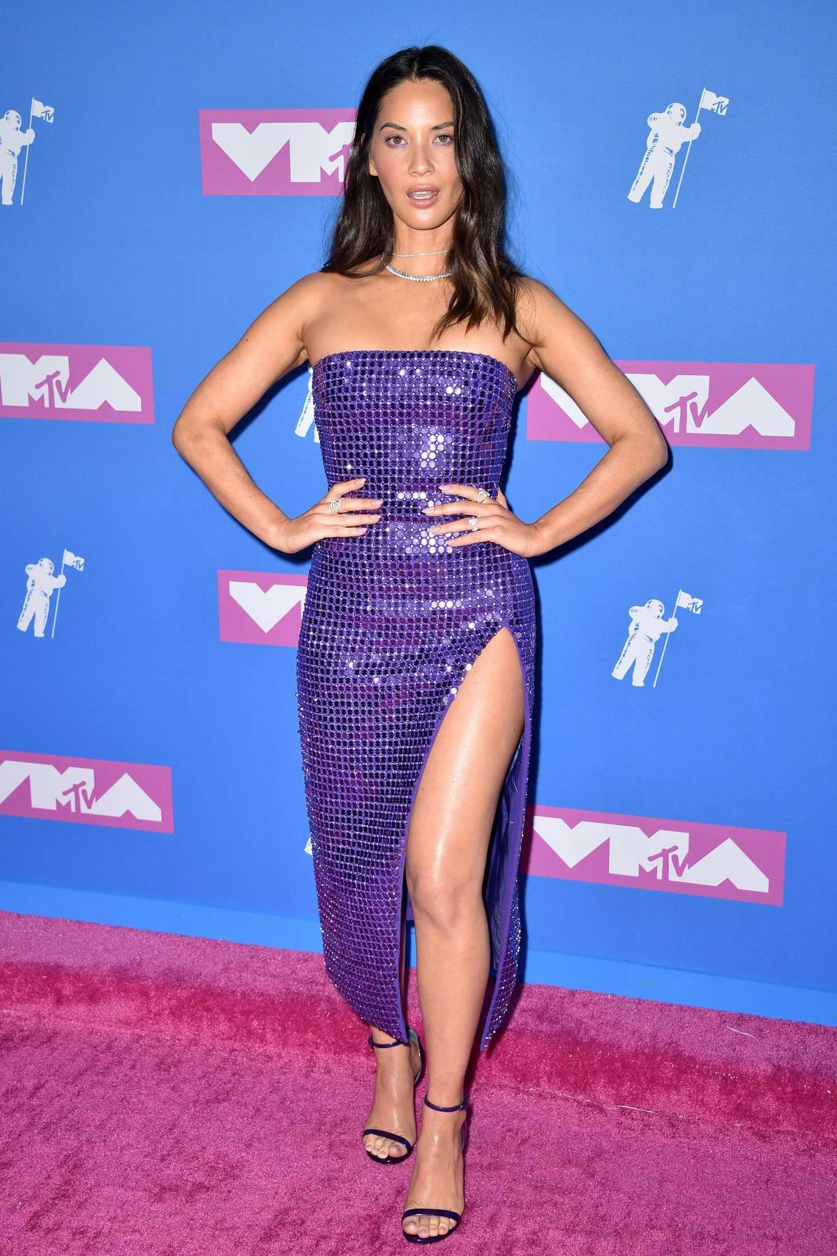 Olivia Munn attends 2018 MTV Video Music Awards (MTV VMA 2018) at Radio City Music Hall in New York City