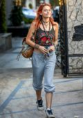 Paris Jackson shows off her funky style as she leaves Nine Zero One salon in Los Angeles