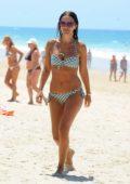Paula Echevarria spotted in multiple bikinis at the beach in Sancti Petri, Spain