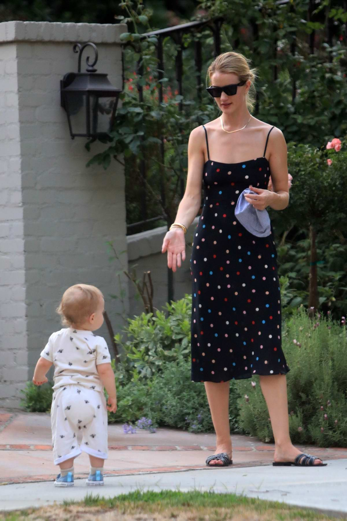 Rosie Huntington-Whiteley spends some quality time with her son in Beverly Hills, Los Angeles
