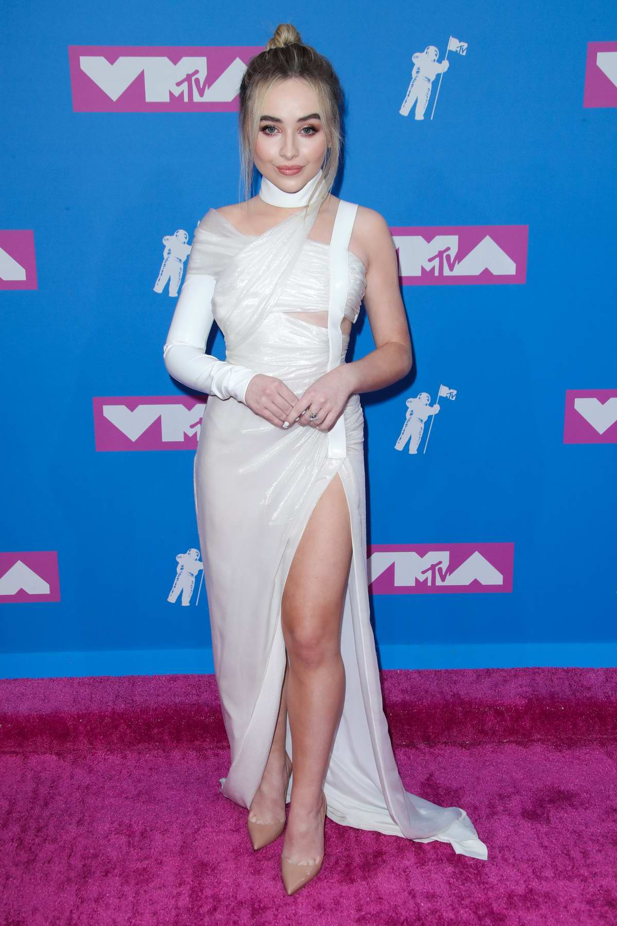 Sabrina Carpenter attends 2018 MTV Video Music Awards (MTV VMA 2018) at Radio City Music Hall in New York City