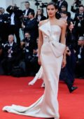 Sara Sampaio attends 'First Man' premiere and the Opening Ceremony of the 75th Venice International Film Festival in Venice, Italy