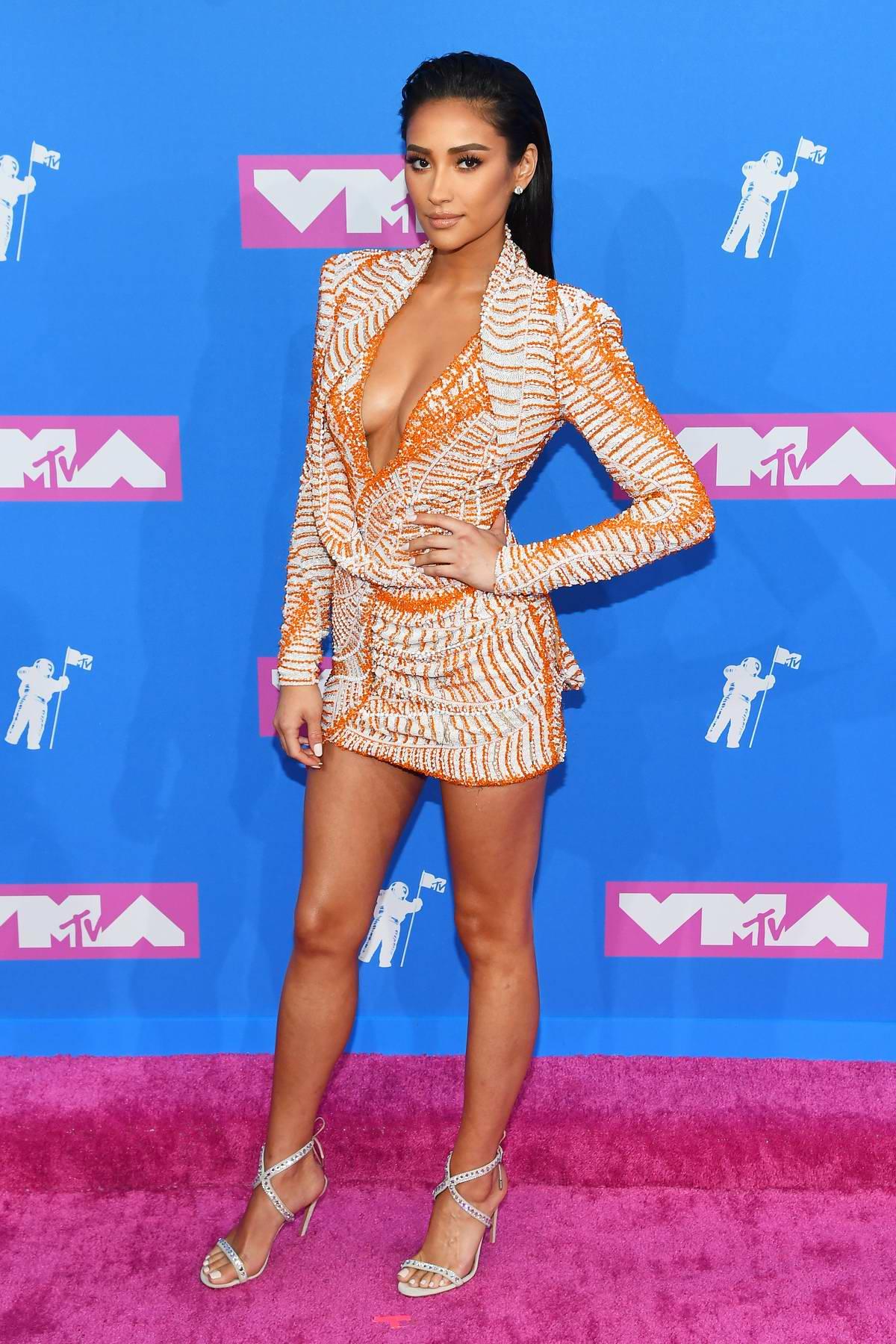 Shay Mitchell attends 2018 MTV Video Music Awards (MTV VMA 2018) at Radio City Music Hall in New York City