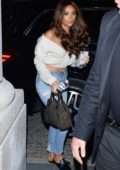 Shay Mitchell gets greeted by her fan as she arrives at her hotel in Warsaw, Poland