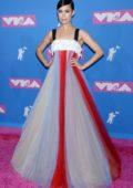 Sofia Carson attends 2018 MTV Video Music Awards (MTV VMA 2018) at Radio City Music Hall in New York City