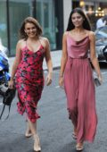 Tallia Storm and Emily Canham enjoys a girls night out in London, UK