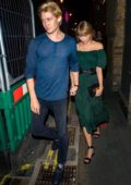 Taylor Swift and Joe Alwyn seen while out on a date night at Hawksmoor Steak Restaurant in Covent Garden, London, UK