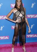 Winnie Harlow wearing Sonia Rykel at the 2018 MTV Video Music Awards (MTV VMA 2018) at Radio City Music Hall in New York City