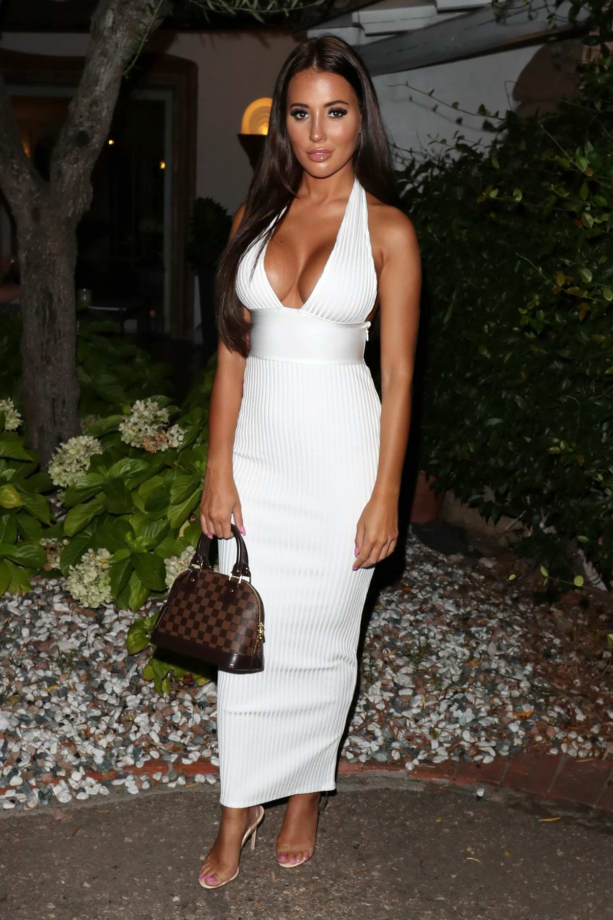 Yazmin Oukhellou attends 'The Only Way Is Essex' cast party in Sardinia, Italy
