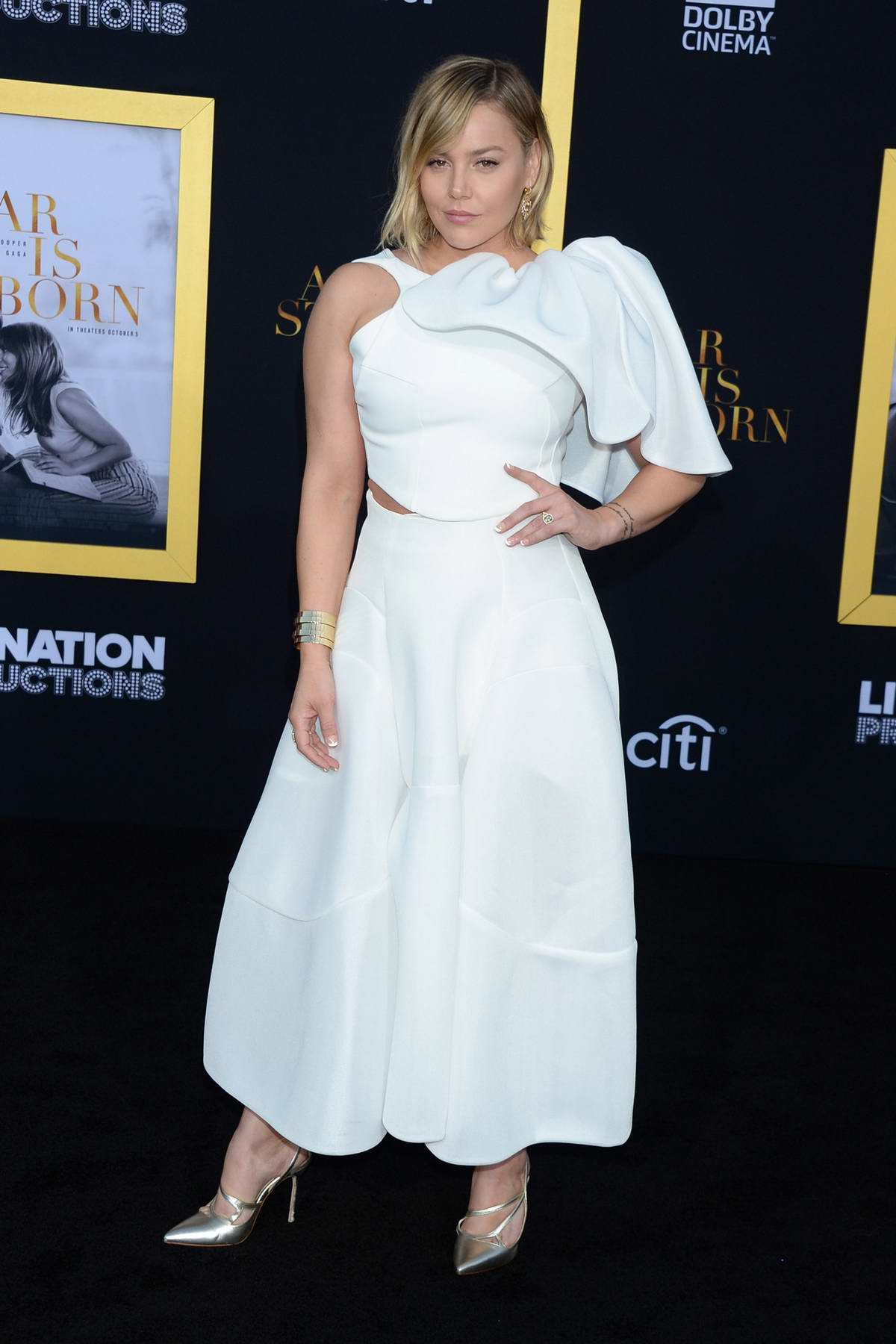 Abbie Cornish attends 'A Star Is Born' film premiere at Shrine Auditorium in Los Angeles