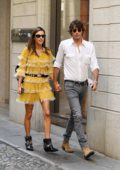 Alessandra Ambrosio and boyfriend Nicolo Oddi enjoys a romantic stroll in Milan, Italy