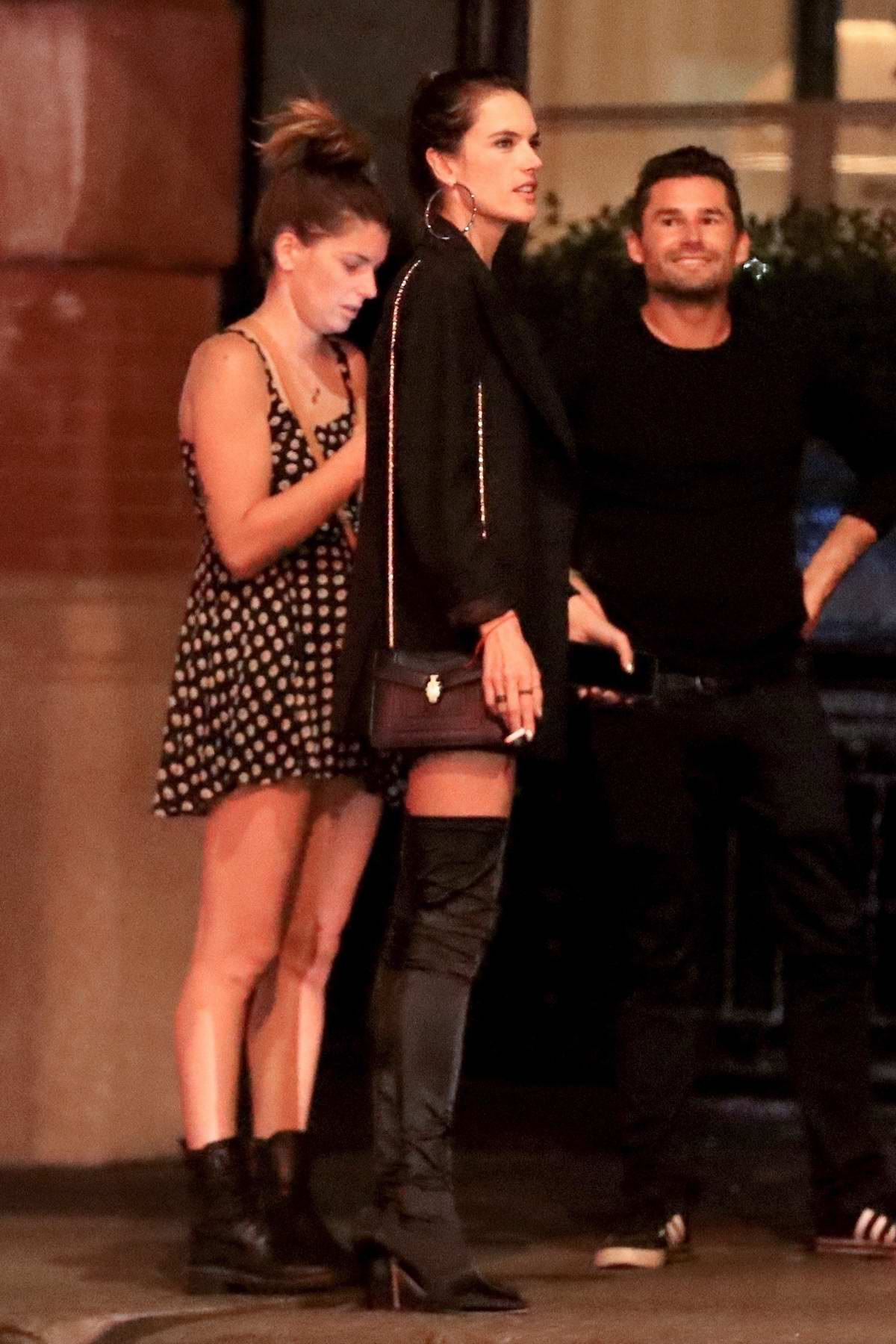 Alessandra Ambrosio and boyfriend Nicolo Oddi spotted during a night out in New York City