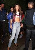 Alessandra Ambrosio arriving at Tommy Hilfiger bash during New York Fashion Week in New York City