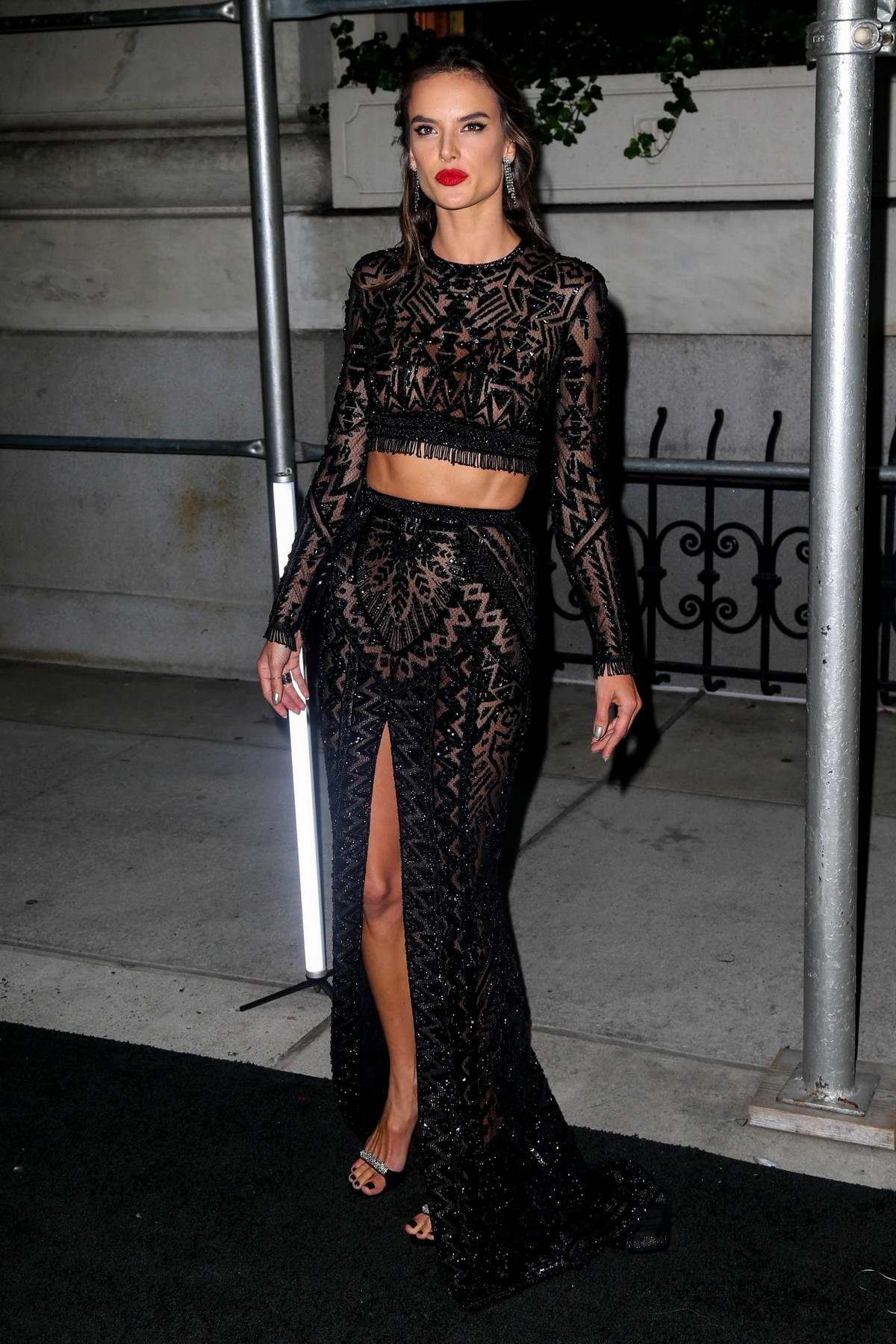 Alessandra Ambrosio attends Harper's Bazaar ICONS party NYFW Spring/Summer 2019 in New York City