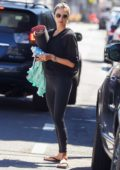 Alessandra Ambrosio leaves her morning yoga session at YogaWorks in Santa Monica, California