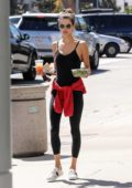 Alessandra Ambrosio steps out without makeup to grab a salad lunch out in Los Angeles